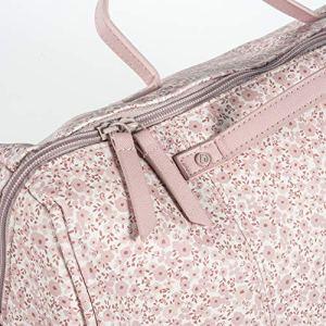 Sac Maternité FLOWER MELLOW Couleur Rose Cuir synthétique avec imprimé floral. Poignée longue et courte.