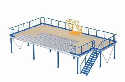 plate forme de stockage mezzanine industrielle