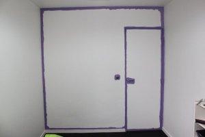 Préparer vos murs en les protégeant à l'aide d'un adhésif de masquage