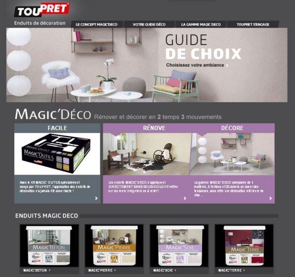 site internet magic d co zonetravaux bricolage. Black Bedroom Furniture Sets. Home Design Ideas