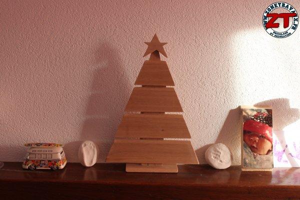 création : fabriquer son sapin de noël en bois