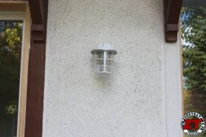 Pose applique lumiere exterieure