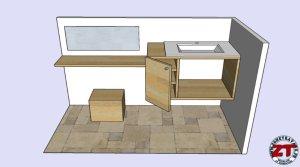 Fabriquer meuble vasque salle de bain