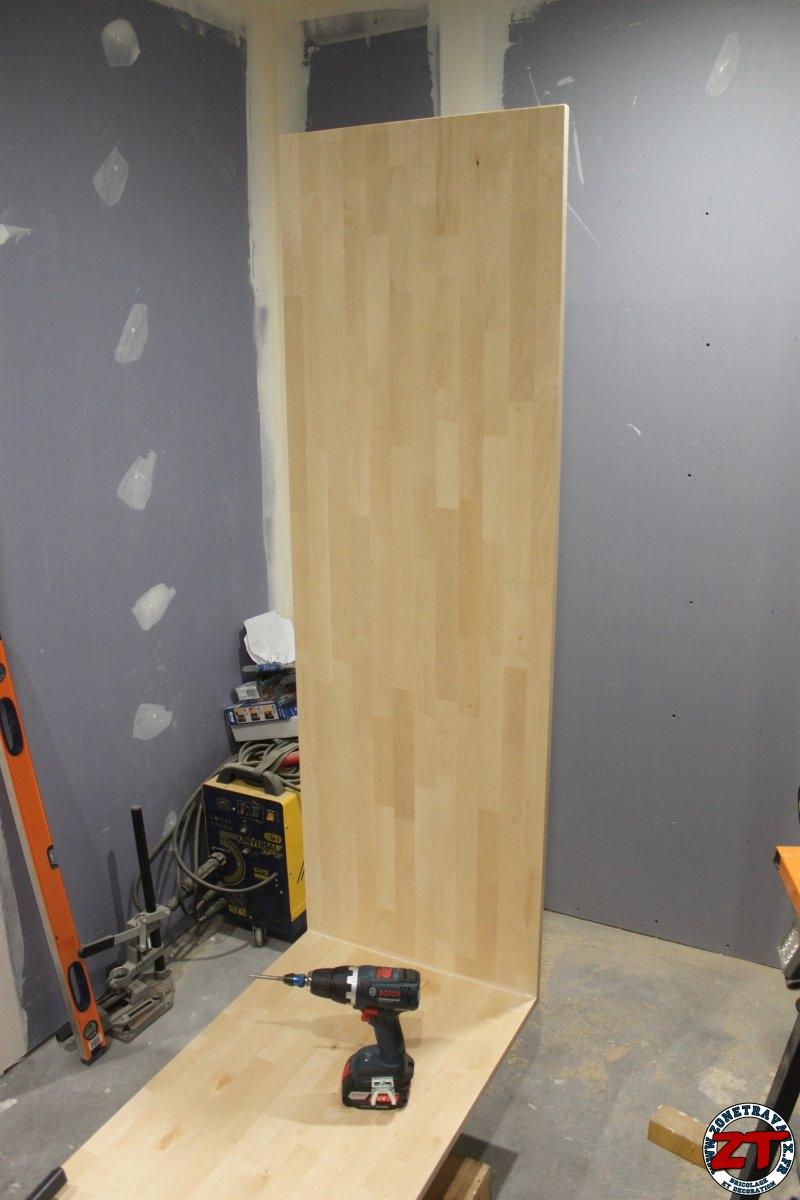 Cr ation r alisation d 39 un meuble d 39 entr e sur mesure en for Planche bois sur mesure
