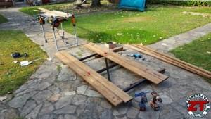 Fabrication restauration portillon en bois acier
