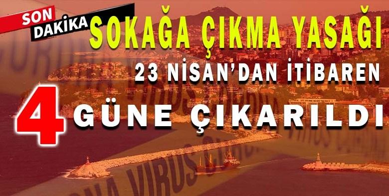 Zonguldak'ta 4 Gün Sokağa Çıkma Yasağı İlan Edildi