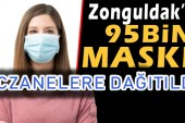Zonguldak'a 95bin Maske Geldi