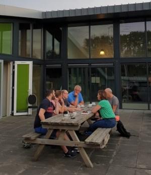 Overleg met Provincie Groningen op het dakterras van de Gaveborg