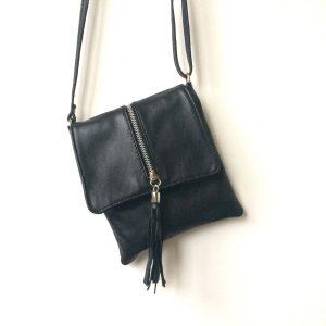 kleine messenger bag zwart