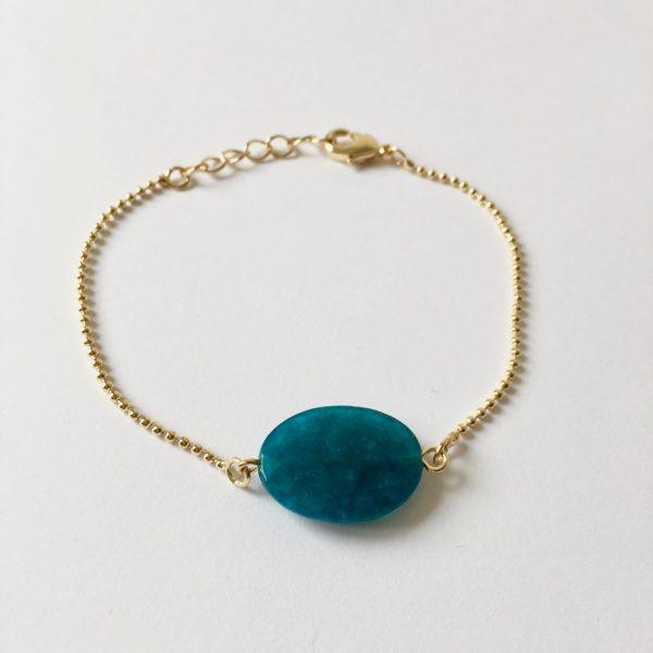 Armband met agaat goud