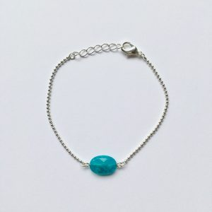 Armband met jade (zilver)
