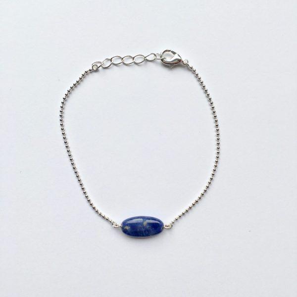 Armband met lapis lazuli zilver