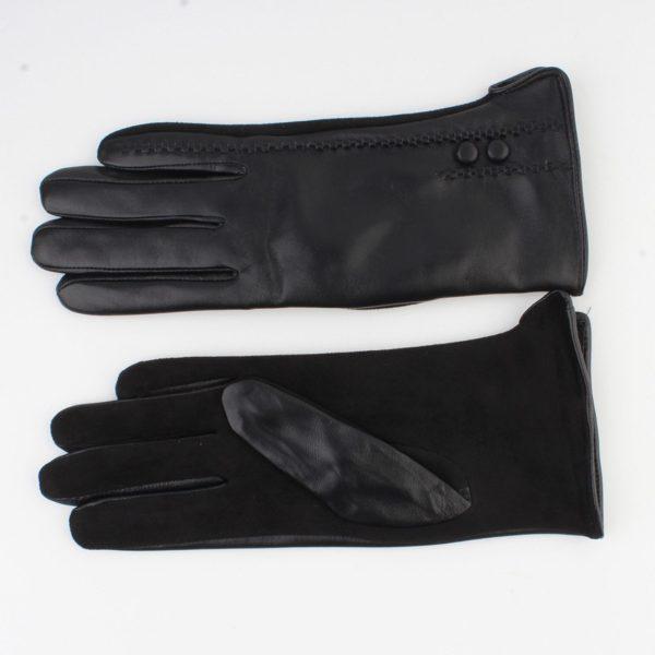Handschoenen PU leer zwart maat 7