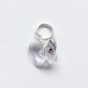 Hanger met Swarovski kristal licht paars kettinghanger