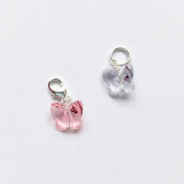 Ketting hanger met Swarovski kristal roze lichtpaars
