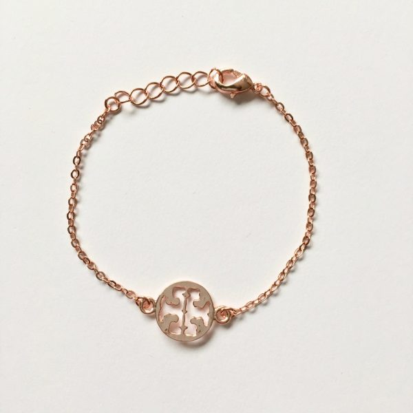 Metalen armband fijn rosé goud