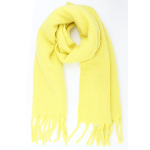 Warme zachte sjaal licht geel fel
