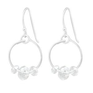 Zilveren oorbellen met rondjes
