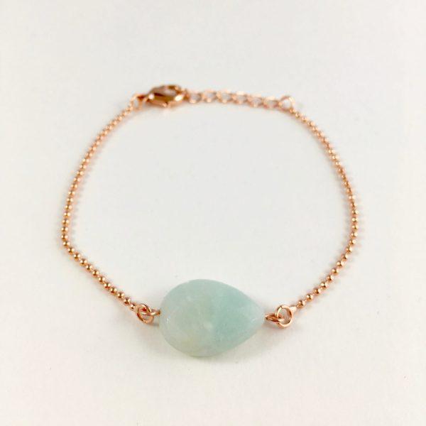 armband met jade rose goud