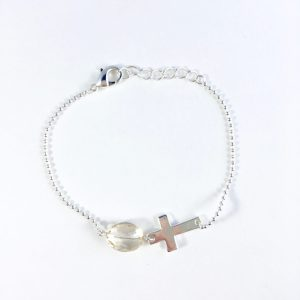 armband met kwarts zilver