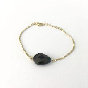 armband met onyx goud