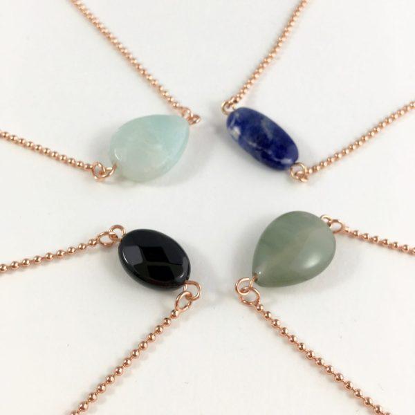 armbanden met onyx lapis lazuli amazoniet