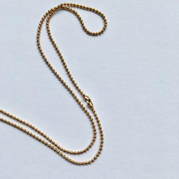 ball chain sluiting 80 cm ketting