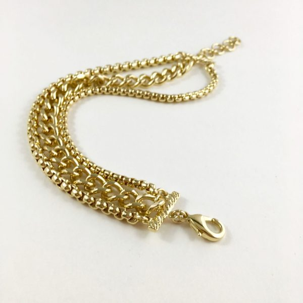 brede armband goud