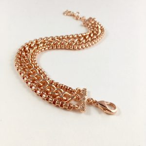 brede armband rose goud