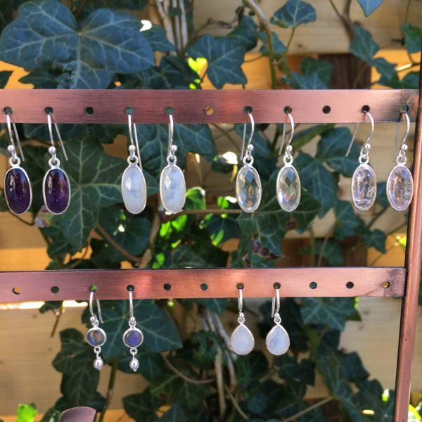 edelsteen oorbellen 925 zilver fijne oorbellen echt zilver