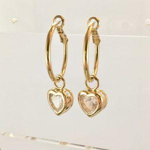 gouden oorringen met hartjes