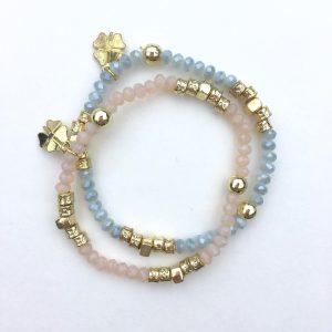 klavertje vier geluksarmband kralen armbandje lucky bracelet