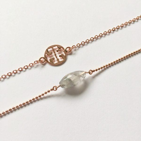 rose gouden armbanden edelsteen metalen armbandje fijn