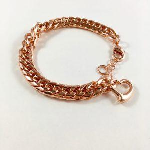 schakelarmband rose goud