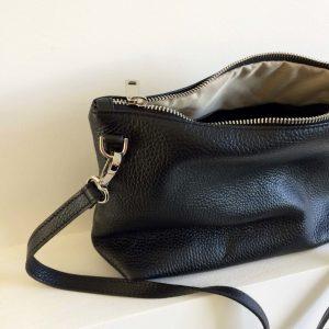schoudertasje zwart leer