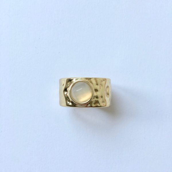 statement ring goud natuursteen