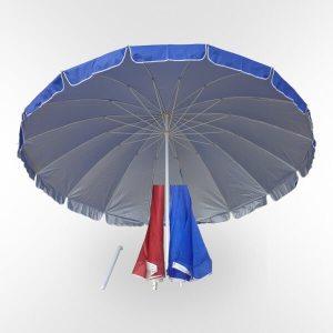 Зонт 3 метра 16 спиц с клапаном и напылением купить торговый зонт
