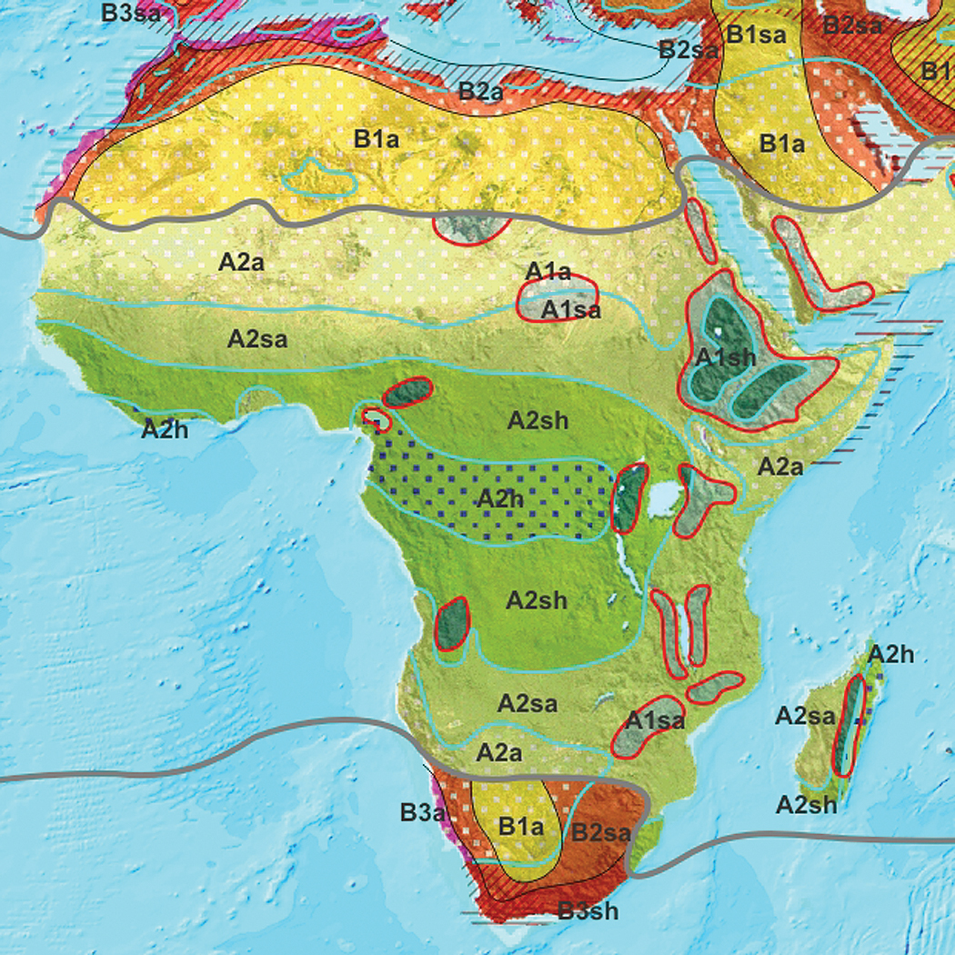 Different Climae Zones In Africa