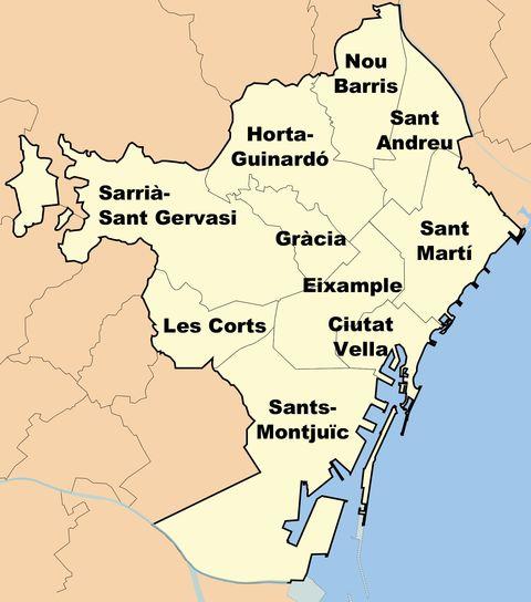 Distritos de Barcelona 2008