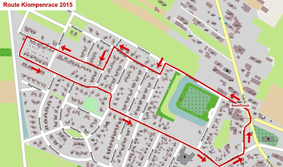 route klompenrace 2015