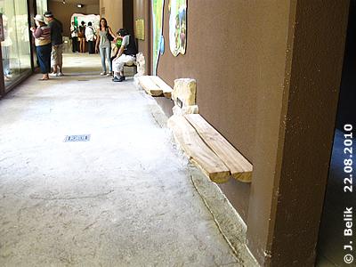 Erst am späten Nachmittag kurz vor Torschluß gibt es freie Platzerl auf den neuen Bankerln im Südamerika-Haus, 22. August 2010