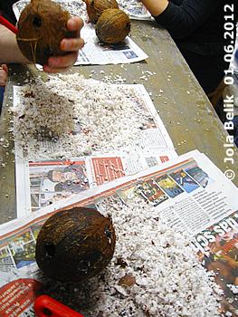Es dauert ganz schön lange, bis eine Kokosnuss ausgehölt ist! 1. Juni 2012