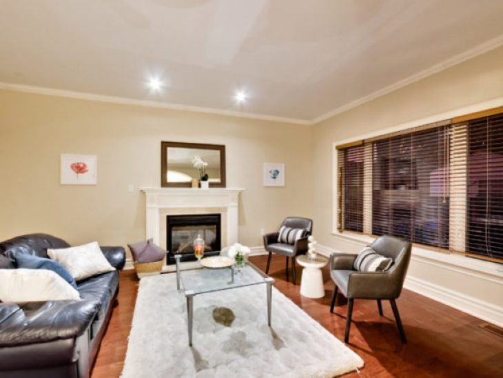 Keep cosy with the living room fireplace, and generous natural light.