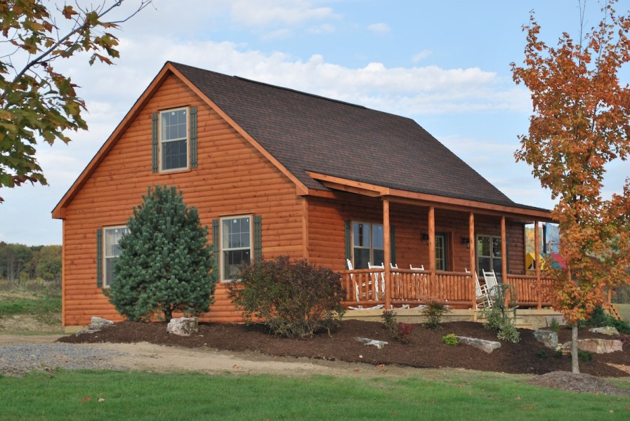 Mountaineer Cabin   2 Story Cabin   Large Log Homes   Zook Cabins amish prefab cabins mountaineer style log homes for sale
