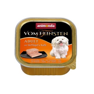 Пастет VOM FEINSTEN ADULT POULTRY AND VEAL за кучета над 12 м, 150 g