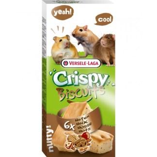 Кексчета за гризачи с ядки и яйца VERSELE LAGA CRISPY BISCUIT SMALL ANIMALS NUTS, 6 бр.
