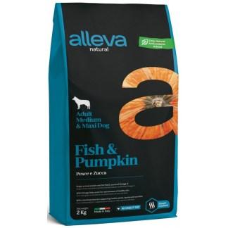 Суха храна ALLEVA NATURAL FISH & PUMPKIN ADULT MEDIUM/MAXI за едри и средни породи над 12 м, 2 kg