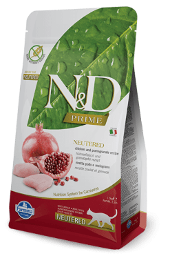 Farmina - N&D Cat Prime Grain Free Sterilizzato Pollo & Melograno 5kg