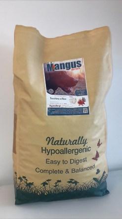 Mangus del Sole - Dog Hypoallergenic Monoproteico Senior Light Tacchino Riso. 12kg