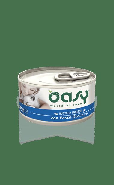 Oasy - Umido Wet Cat Mousse con Pesce Oceanico. 85gr